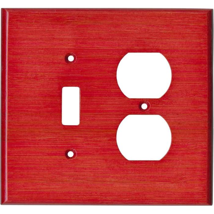 Bamboo Whipped Strawberry Red Combination 1 Toggle / Outlet Cover Plates