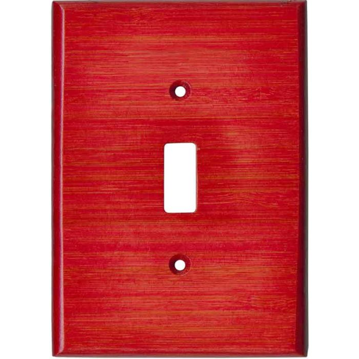 Bamboo Whipped Strawberry Red Single 1 Toggle Light Switch Plates