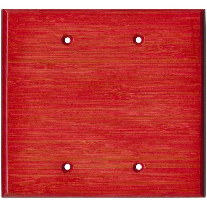 Bamboo Whipped Strawberry Red Double Blank Wallplate Covers