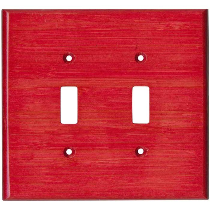 Bamboo Whipped Strawberry Red2 Toggle Switch Plates