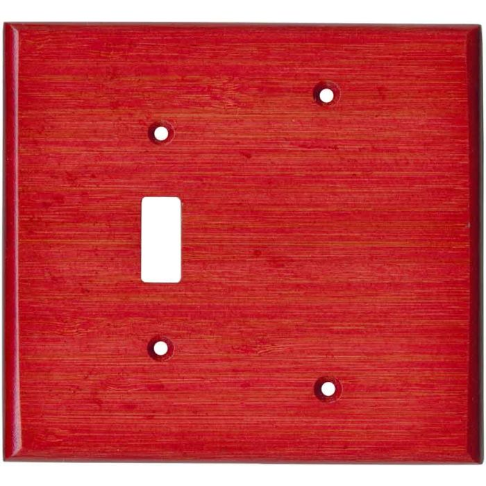 Bamboo Whipped Strawberry Red1 Toggle - Blank Combination Switch Plate Cover