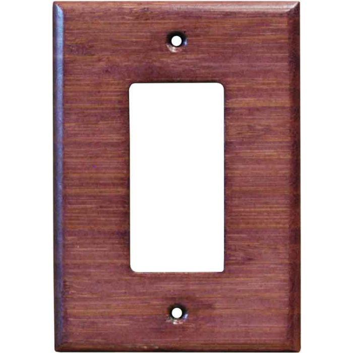 Bamboo Wild Geranium Purple1-Gang GFCI Decorator Rocker Switch Plate Cover