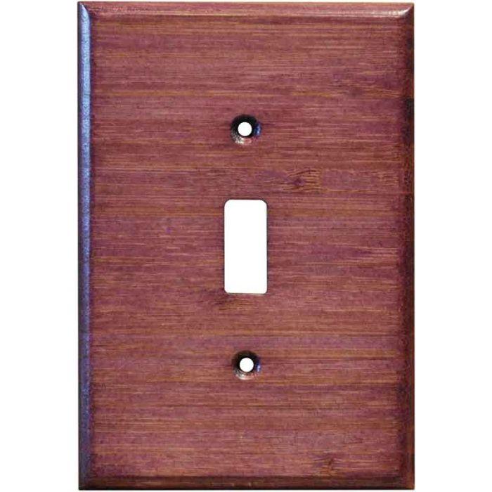 Bamboo Wild Geranium Purple1 Toggle Light Switch Cover