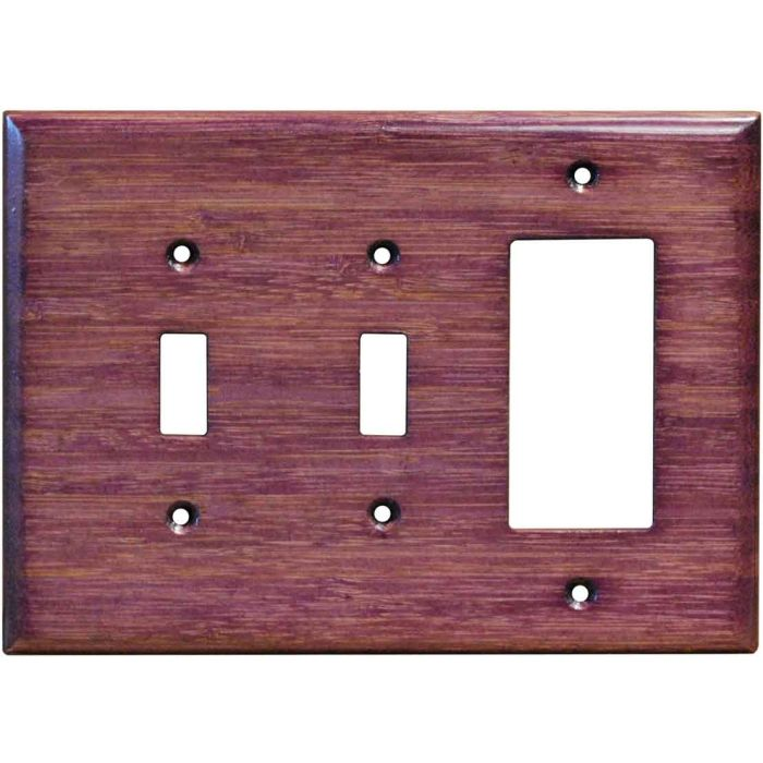 Bamboo Wild Geranium Purple Double 2 Toggle / 1 GFCI Rocker Combo Switchplates