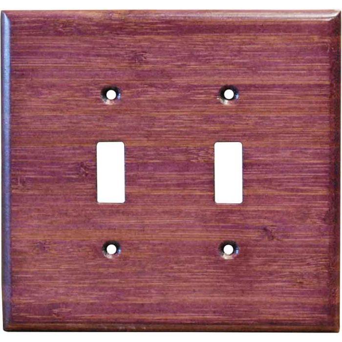 Bamboo Wild Geranium Purple2 Toggle Switch Plates