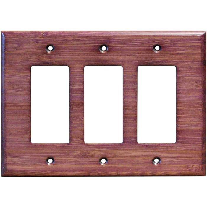 Bamboo Wild Geranium Purple3 - Rocker / GFCI Decora Switch Plate Cover