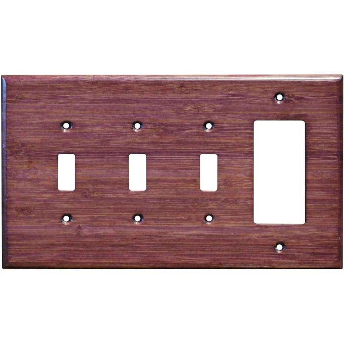 Bamboo Wild Geranium Purple Triple 3 Toggle / 1 Rocker GFCI Switch Covers