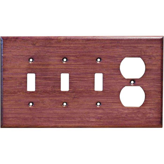 Bamboo Wild Geranium Purple3-Toggle / 1-Duplex - Combination Wall Plates