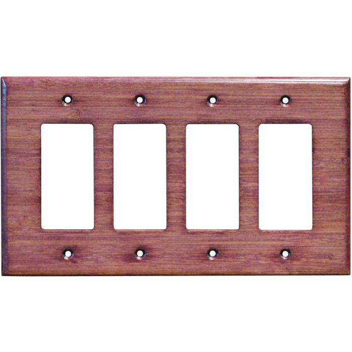 Bamboo Wild Geranium Purple4 Rocker GFCI Decorator Switch Plates