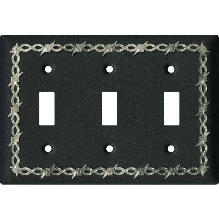 Barbwire Black3 - Toggle Switch Plates