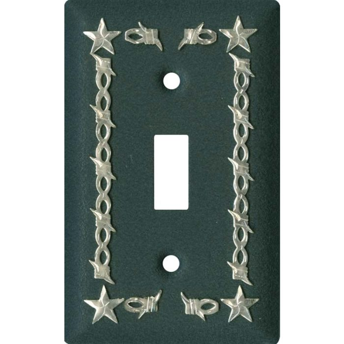Barbwire - Star Black Single 1 Toggle Light Switch Plates