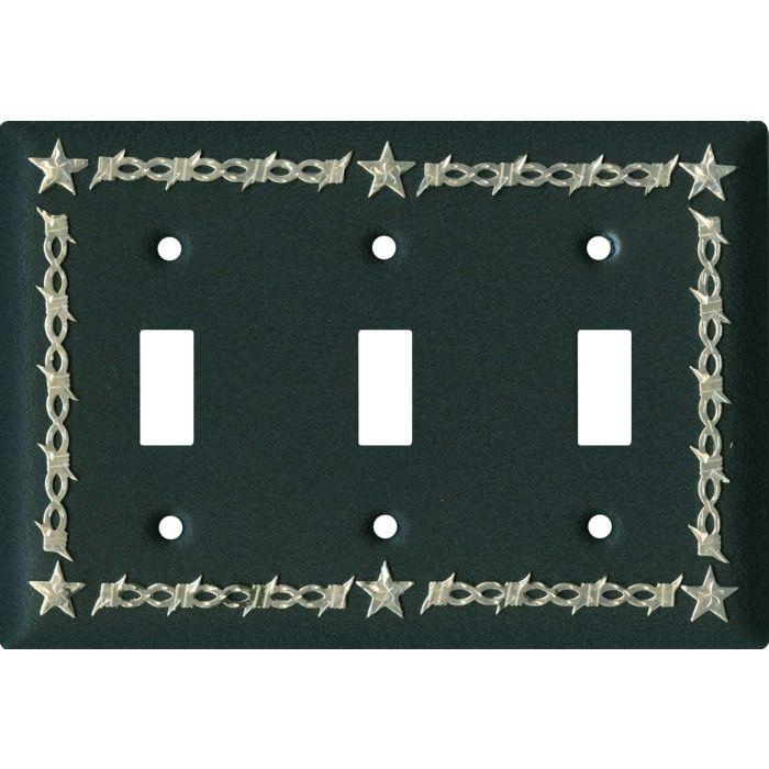 Barbwire - Star Black3 - Toggle Switch Plates