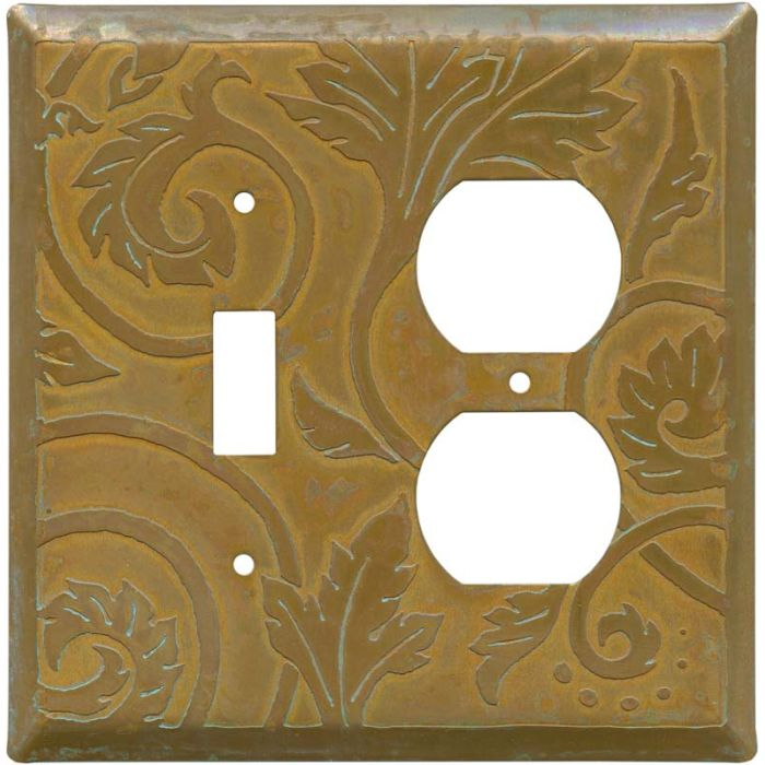 Baroque Tarnished Copper Combination 1 Toggle / Outlet Cover Plates