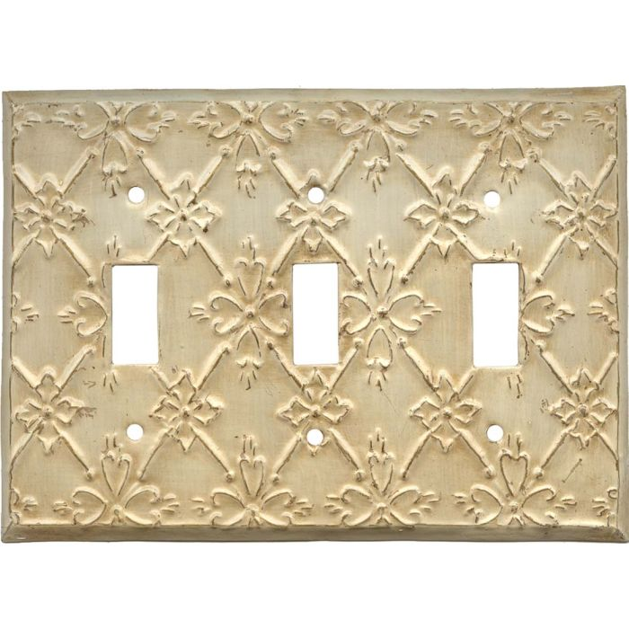 Baroque Triple 3 Toggle Light Switch Covers