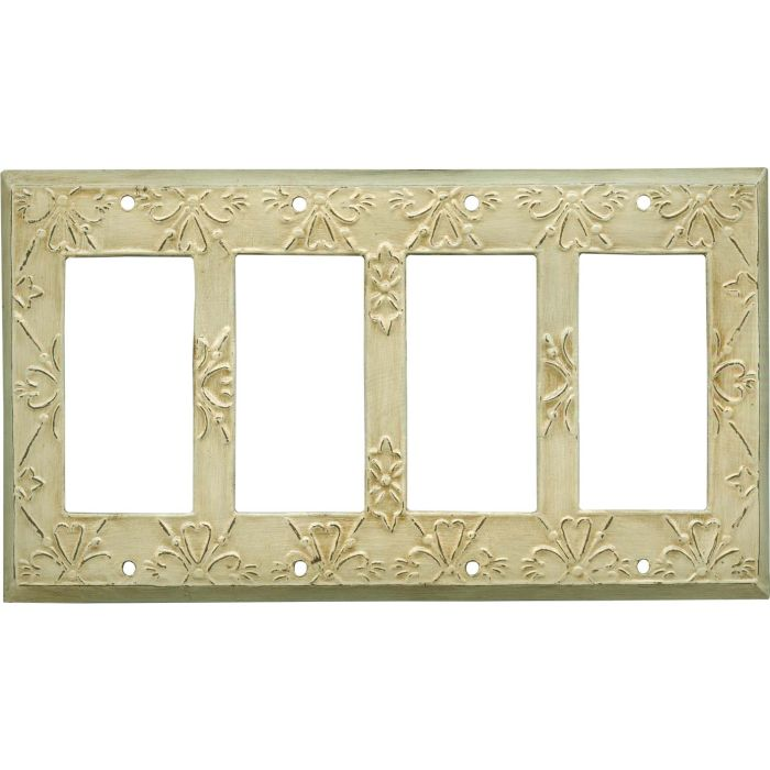 Baroque 4 Rocker GFCI Decorator Switch Plates