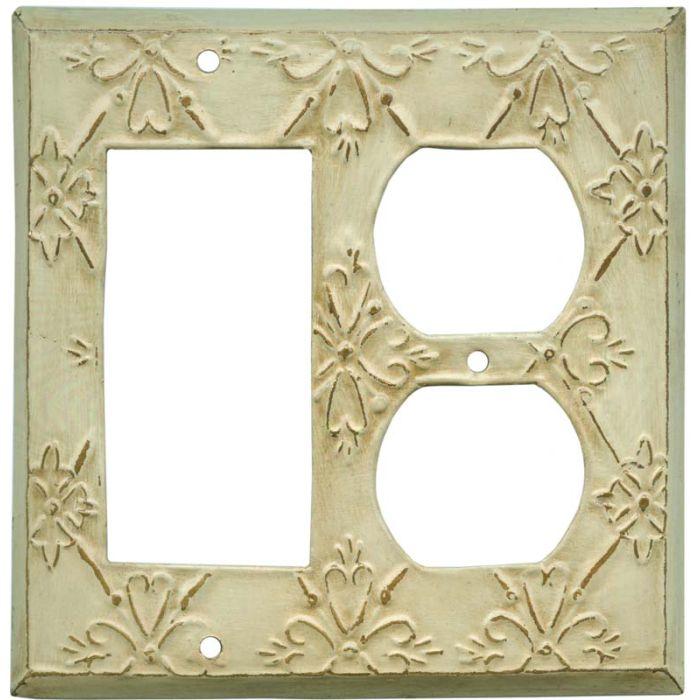 BaroqueDecora GFCI Rocker / Duplex Outlet Combination Wall Plate