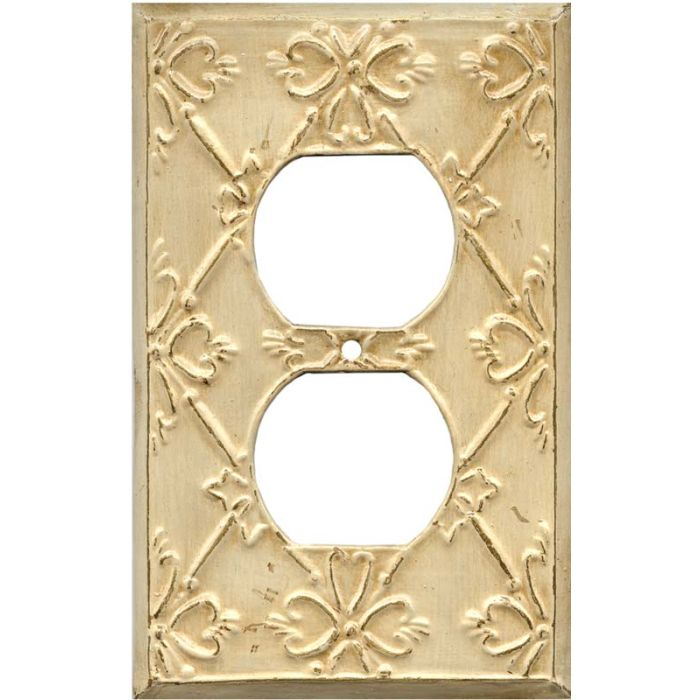 Baroque1 - Gang Duplex Outlet Cover Wall Plate
