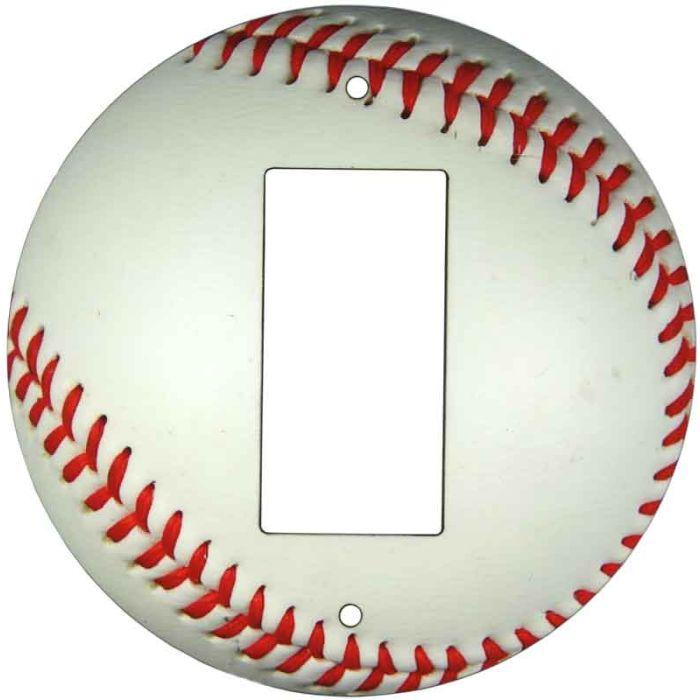 Baseball1-Gang GFCI Decorator Rocker Switch Plate Cover