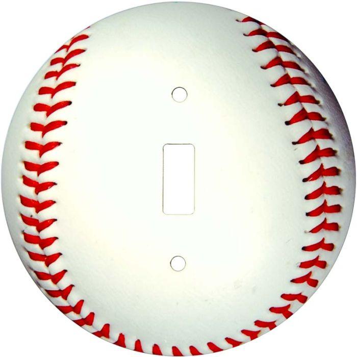 Baseball Single 1 Toggle Light Switch Plates
