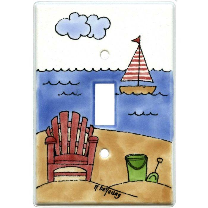 Beach Chair Single 1 Toggle Light Switch Plates