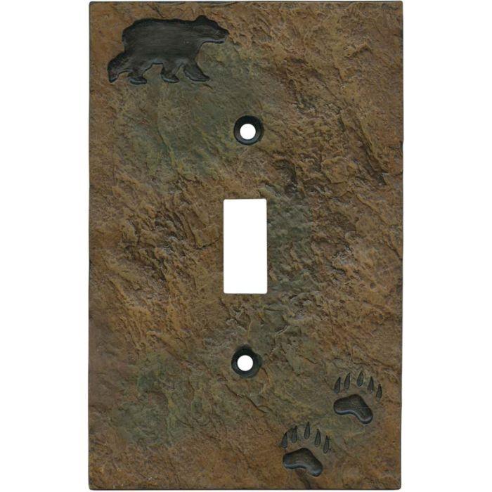 Bear and Tracks Single 1 Toggle Light Switch Plates