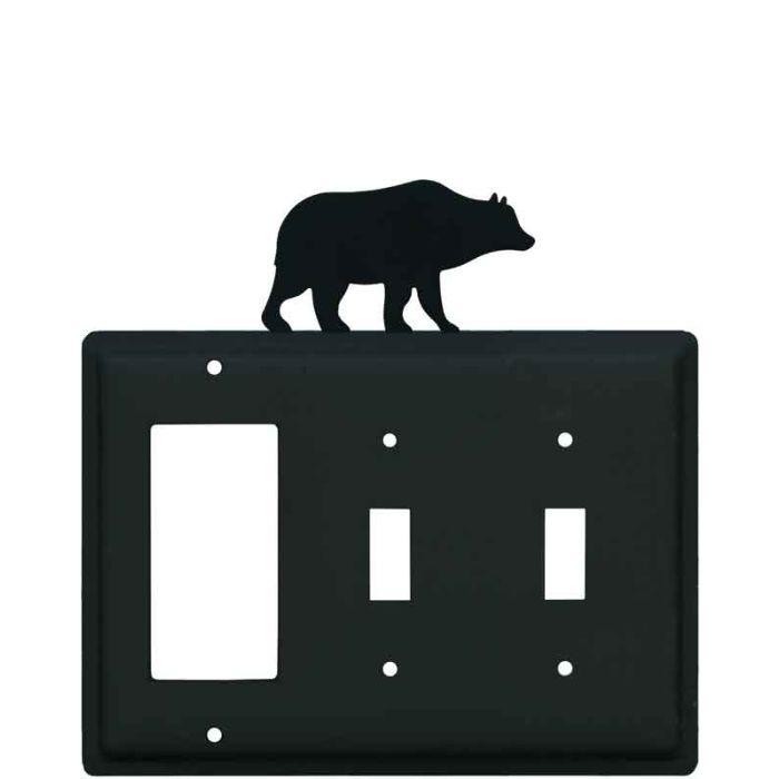 Bear Black 1-Gang GFCI Decorator Rocker Switch Plate Cover