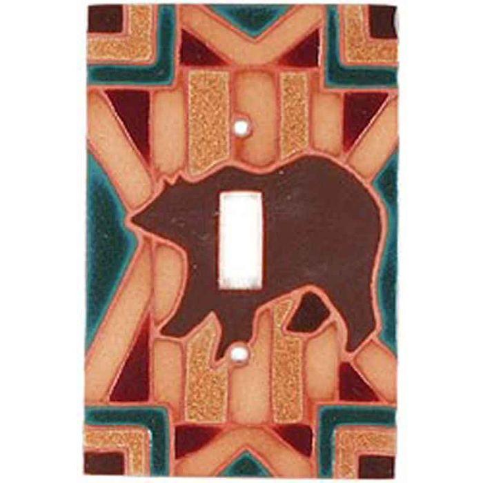 Bear Blanket - Single Toggle Switch Plates