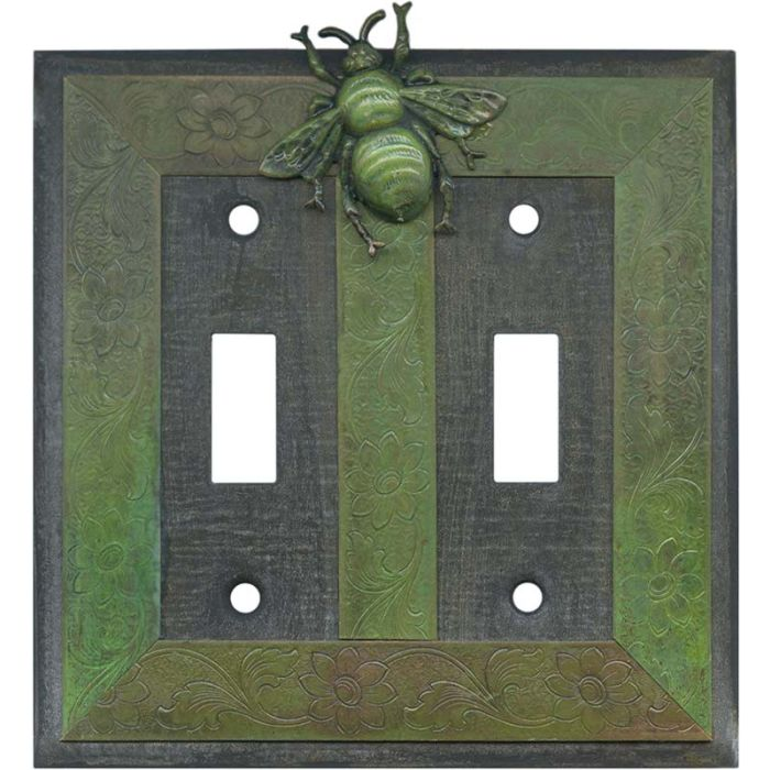 Bee Double 2 Toggle Switch Plate Covers