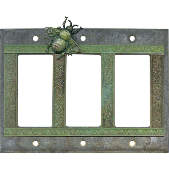 Bee Triple 3 Rocker GFCI Decora Light Switch Covers