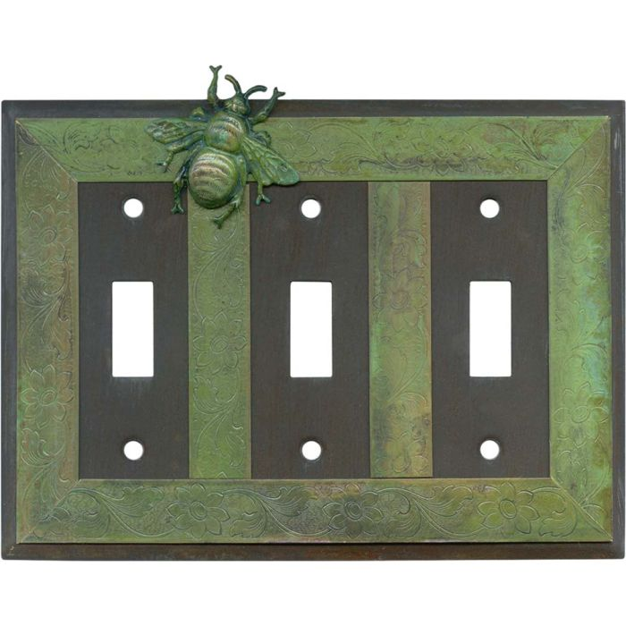 Bee Triple 3 Toggle Light Switch Covers