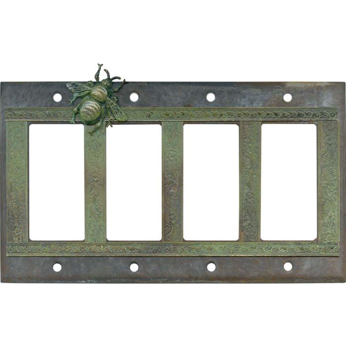 Bee 4 Rocker GFCI Decorator Switch Plates