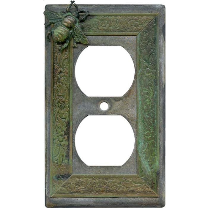 Bee 1 Gang Duplex Outlet Cover Wall Plate