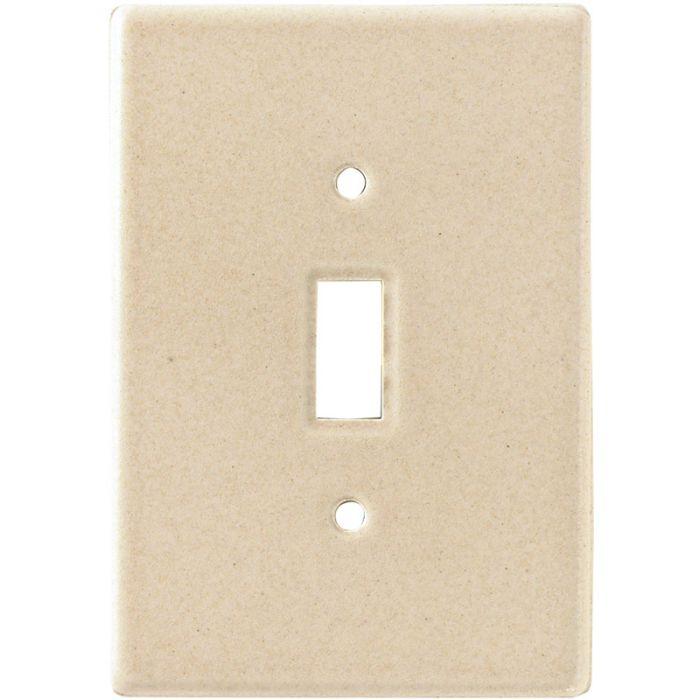 Bella Plain Travertine Single 1 Toggle Light Switch Plates