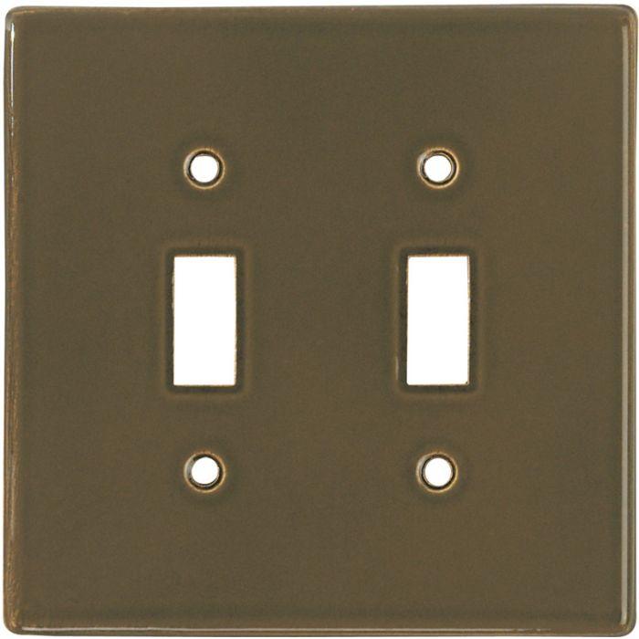 Bella Plain Venetian Brown2 Toggle Switch Plates