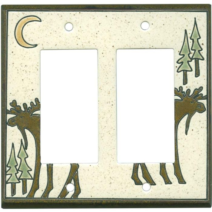 Big Bull Moose 2 Gang Double GFCI Rocker Decorator Wallplates
