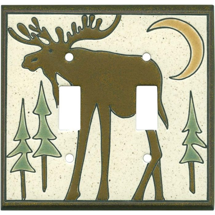 Big Bull Moose Double 2 Toggle Switch Plate Covers
