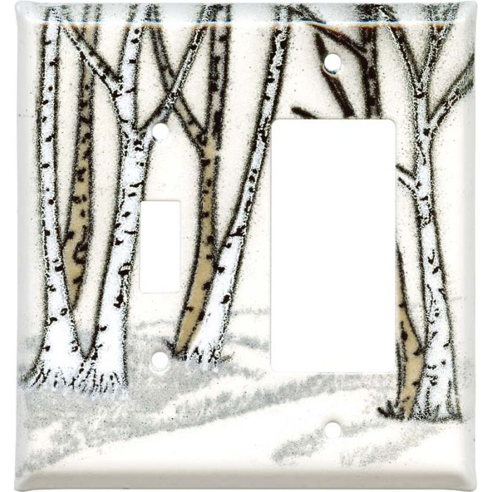 Birches Combination 1 Toggle / Rocker GFCI Switch Covers