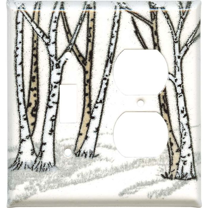 Birches Combination 1 Toggle / Outlet Cover Plates