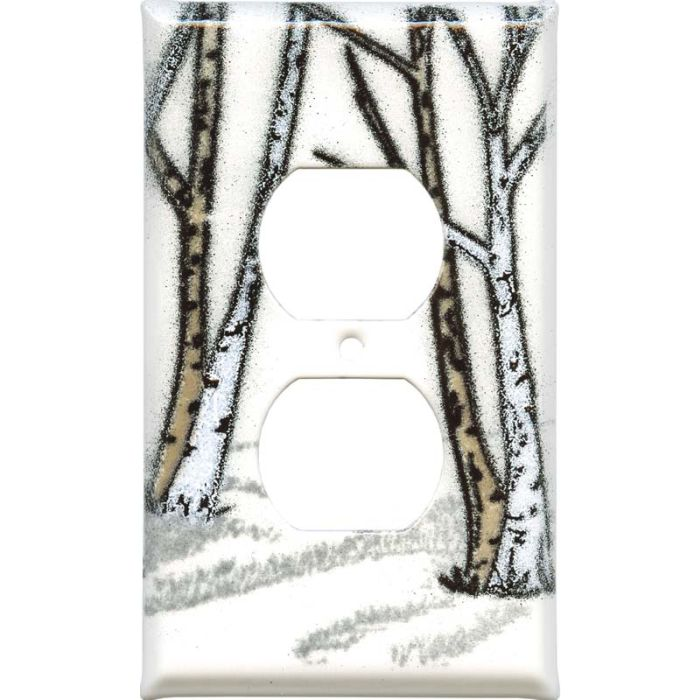 Birches 1 Gang Duplex Outlet Cover Wall Plate