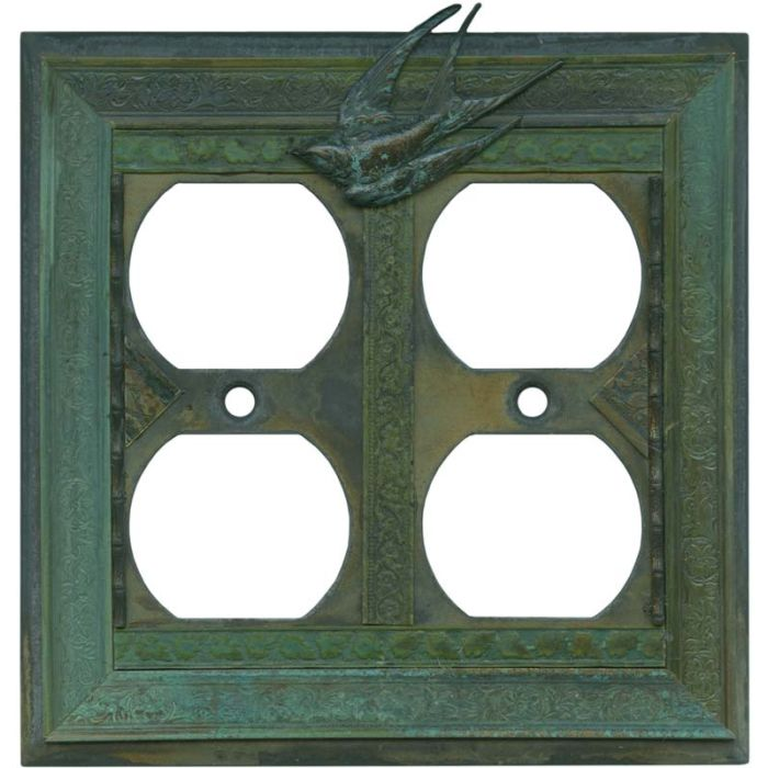 Birds 2 Gang Duplex Outlet Wall Plate Cover