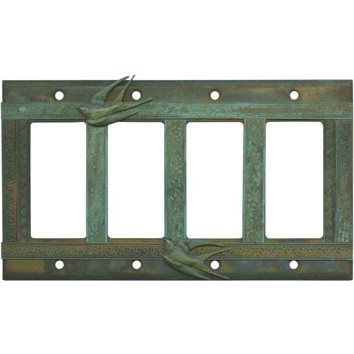 Birds 4 Rocker GFCI Decorator Switch Plates