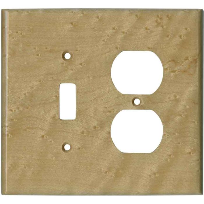 Birdseye Maple Satin Lacquer - Combination 1 Toggle/Outlet Cover Plates