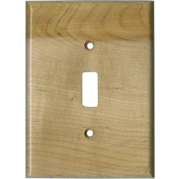Birdseye Maple Satin Lacquer Single 1 Toggle Light Switch Plates