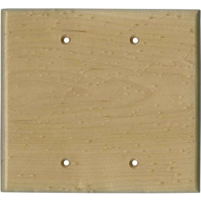 Birdseye Maple Satin Lacquer Double Blank Wallplate Covers