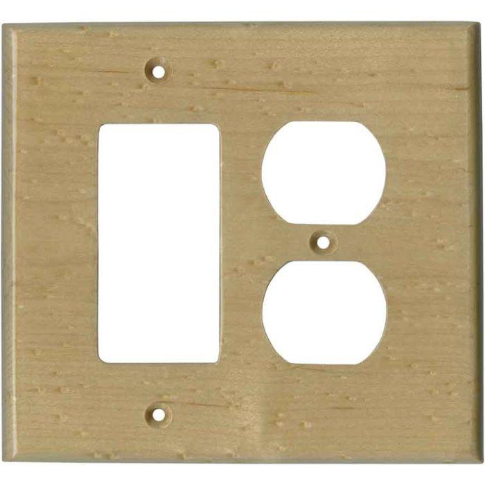 Birdseye Maple Satin Lacquer Combination GFCI Rocker / Duplex Outlet Wall Plates