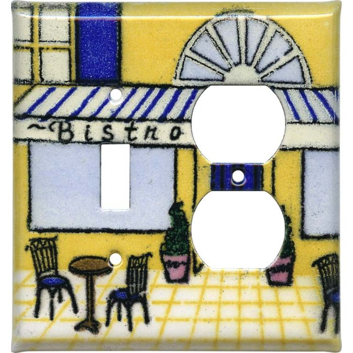 Bistro Combination 1 Toggle / Outlet Cover Plates