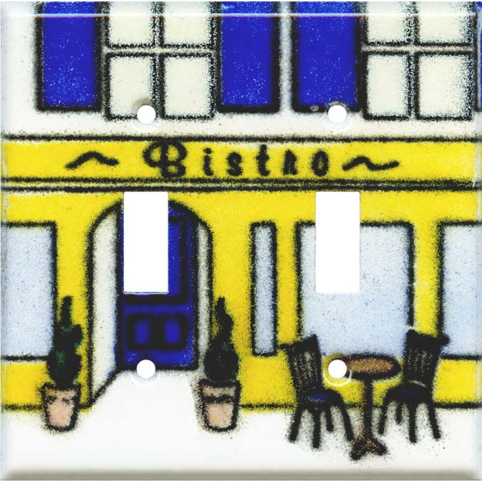 Bistro Double 2 Toggle Switch Plate Covers