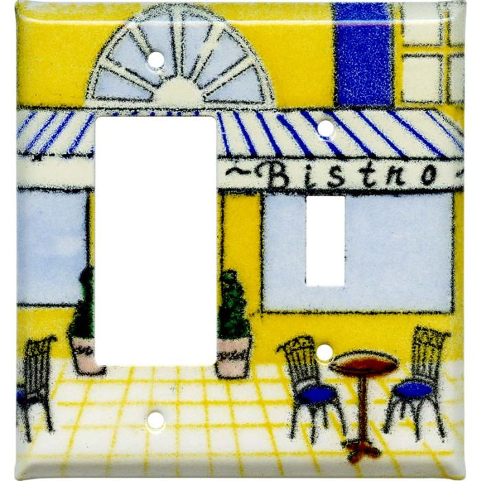 Bistro1-Gang GFCI Decorator Rocker Switch Plate Cover