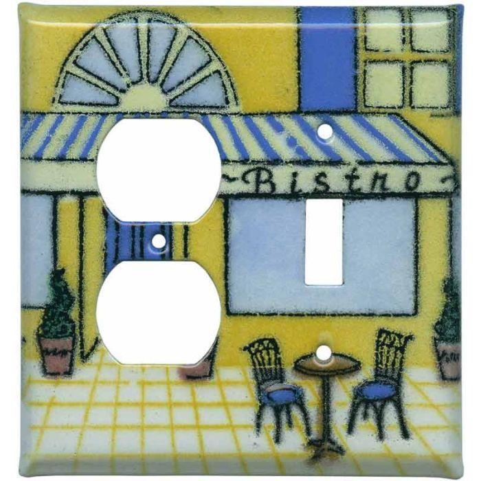 Bistro1-Duplex / 1-Toggle - Combination Wall Plates
