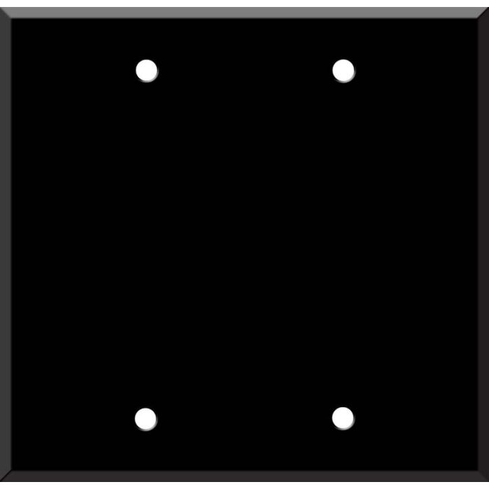 Black Enamel Double Blank Wallplate Covers